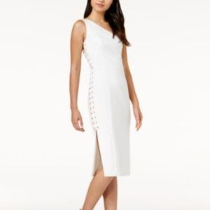 NWT Mare Mare Caliz OneShoulder LaceUp White Dress